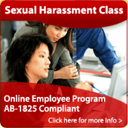 AB-1825 Sexual Harassment Training Class